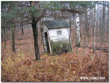 Outhouse on Route 115 in Michigan