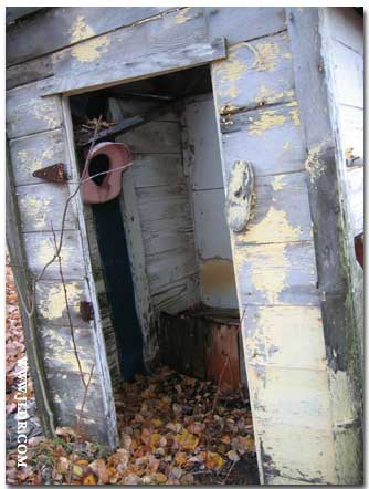 Looking inside the Outhouse