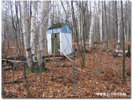 Deer Camp Outhouse on Route 115 in Michigan