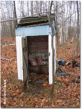 The deer won't go hungry if they get into this Outhouse