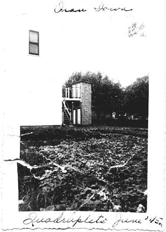 Back View of the 2-story outhouse