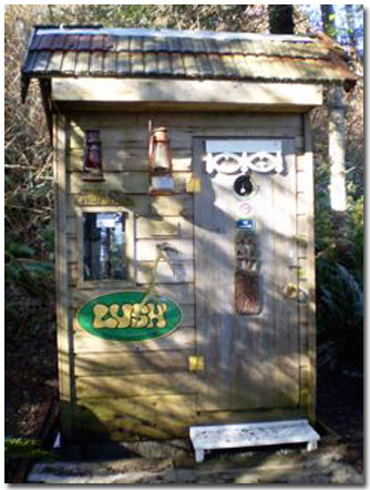 The LUSHious Outhouse in British Columbia
