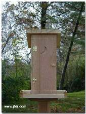 Front View of our Outhouse Bird Feeder