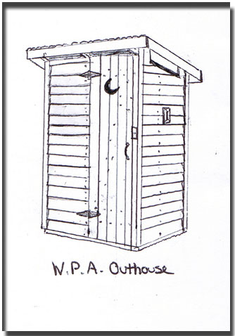 W.P.A. Outhouse Drawing