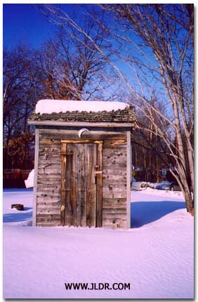 A Classic Outhouse in Northern Michigan