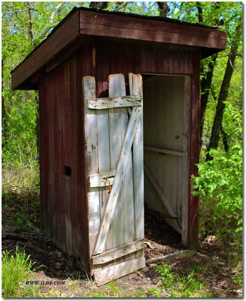Camp Alexander Outhouse in Kansas