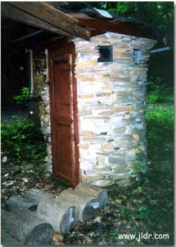 New Jersey Outhouse made out of stone