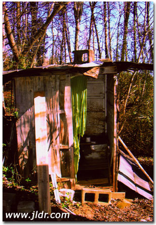 60 Year Old Outhouse in Seymour, Tennessee