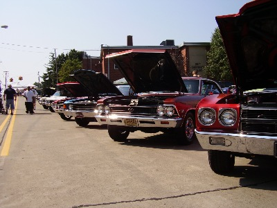 A line of Chevelles at one of the Club sponsered shows