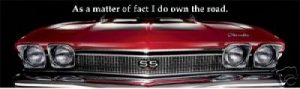 As a matter of fact, I DO own the road