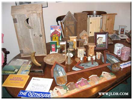 Some of the Outhouse collection held by the Curator