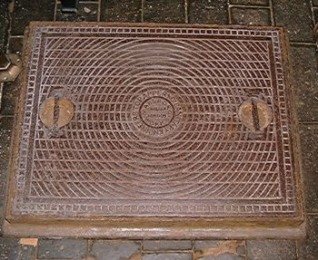 T. Crapper & Co. Manhole Cover. Similar to those in Westminster Abbey, Sandringham, Buckingham Palace, etc