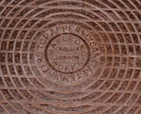 T. Crapper & Co. Manhole Cover. Similar to those in Westminster Abbey, Sandringham, Buckingham Palace, etc.