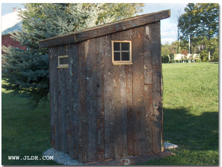 Back View of the New Hampshire Outhouse