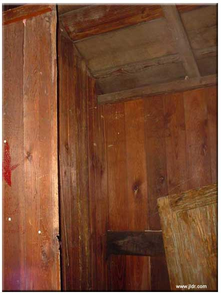 The Outhouse, inside, left and right sides