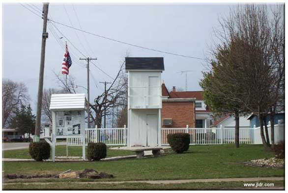 The 2-story Gays, Illinois Outhouse