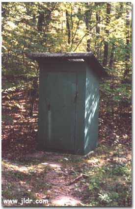 Another Harbor Springs, Michigan Outhouse; Notice the vent in the roof to aid in lighting