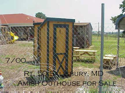 Maryland Amish Outhouse for Sale