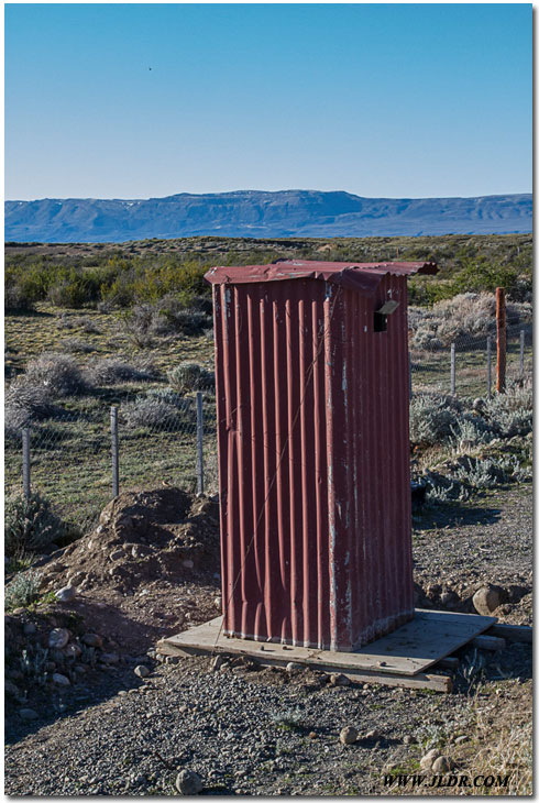 El Calafate, Argentina Outhouse; Not far from Antartica