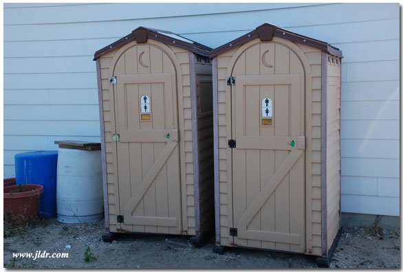 Outhouses at the Point Betsie Light Station