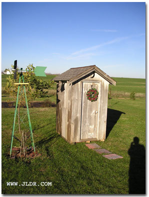 Really Great View of the Restored Iowa Outhouse