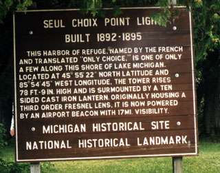 Seul Choix Pt. Lighthouse Description