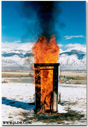 Never light a cigarette inside an Outhouse!