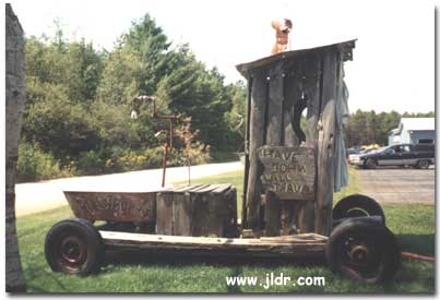 A Maine Outhouse on Wheels