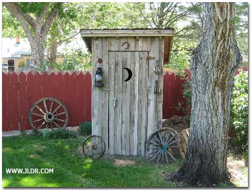 A Pueblo Colorado 1-Holer Outhouse