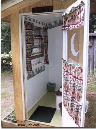 A View of Inside the New Outhouse