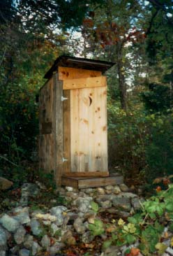A Hunting Outhouse in Virginia's Shenandoah Valley