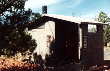 An Outhouse just outside of Sedona, Arizona