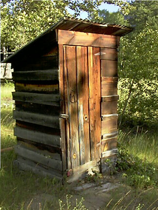 A beautiful old outhouse