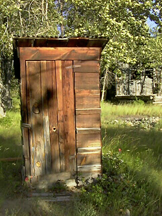 A really old outhouse