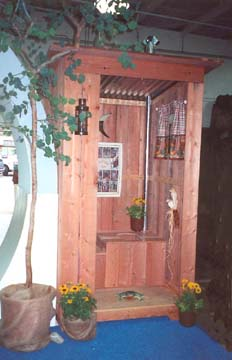 A 2-Holer Outhouse at the Orange County California Fair