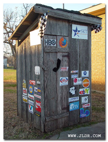 Outhouses found in elk falls ks outhouse capital of the for Local door companies