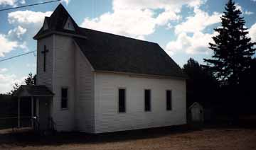 View of Church showing Outhouse in the back