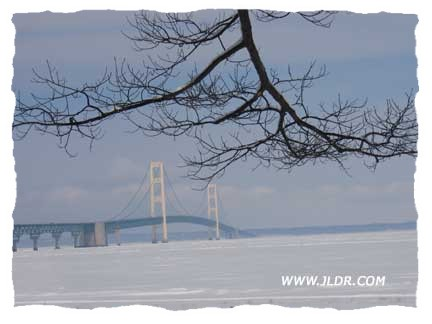 Another shot of the 5 mile long Mackinac Bridge