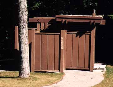 Women's Outhouse from Afar