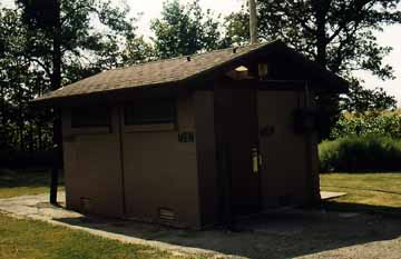 Rest Area Outhouse near Green Bay, Wisconsin