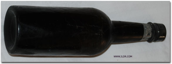 Black Glass Beer Bottle