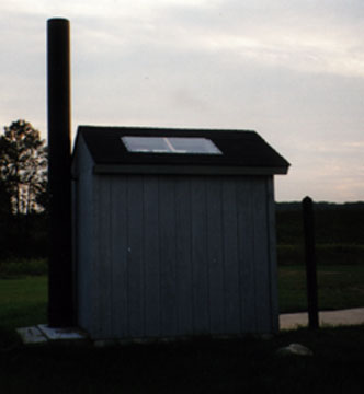 Outhouse at the Escanaba Fishing Bridge