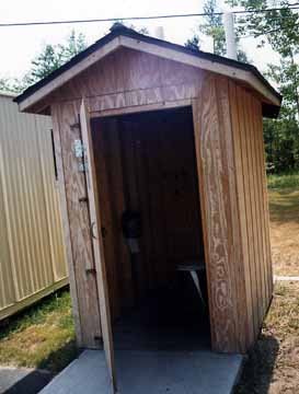 Inside the Foxy Den Outhouse