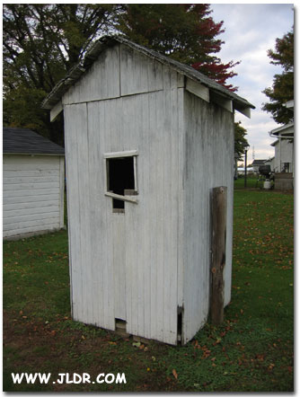 Back of Norwalk, Ohio Outhouse