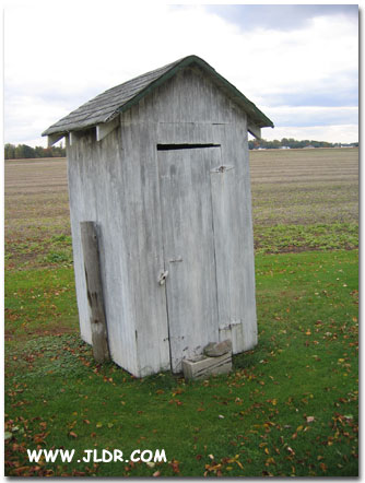 Front of Norwalk Ohio Outhouse