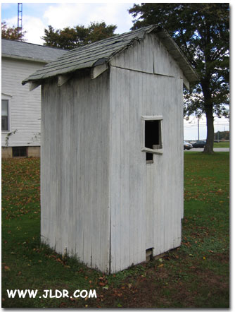 Another back view of the Norwalk, Ohio Outhouse