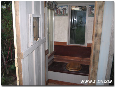 Inside the Wheeler, Arkansas Outhouse