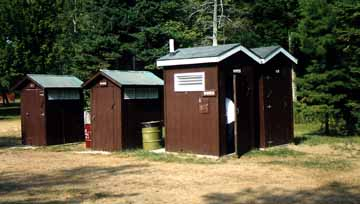 Group of Outhouses in Kleinke Park