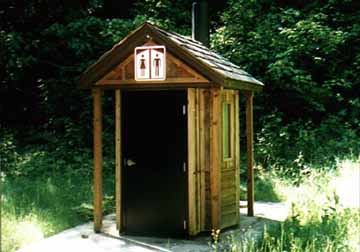 Side View of the Oregon Outhouse