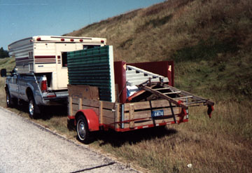 The Pre-Fabricated Outhouse loaded for the trip to the U.P.